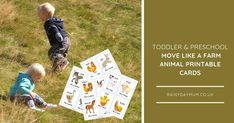 Get active with your preschoolers with this fun printable movement activity card game to play inspired by the farm. Waddle, gallop and more Movement Activities, Preschool Learning Activities, Preschool Printables, Toddler Preschool, Playing Card Games, Play Based Learning, Science Projects, Creative Kids, Learn To Read