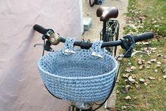 Cesta para la bicicleta. Cesta para el manillar de por Crocheclette