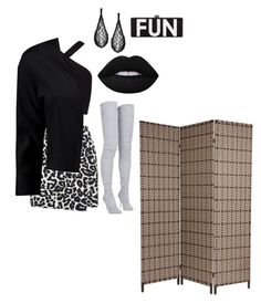 """""""Untitled #496"""" by princhelle-mack ❤ liked on Polyvore featuring Lime Crime, New Look, BCBGMAXAZRIA, Balmain and Boohoo"""