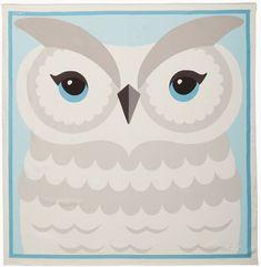Owl portrait scarf