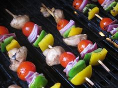 Grilled Vegetable Skewers #recipe [ ABNutritionSolutions.com ]