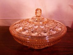 Pink Depression Glass FEDERAL Windsor Covered Candy Dish