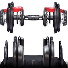 Bowflex SelectTech 552 Adjustable Dumbbells adjust from 5 to lbs lb. It's the perfect home gym solution that allows you to replace 15 sets of weights. Bowflex Weights, Bowflex Dumbbells, Bowflex Workout, Pilates Workout, Quiet Workout, Best Adjustable Dumbbells, Cool Things To Buy, Good Things