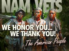 My hubby is a Vietnam Vet.  Thank you to all that served in that WAR!