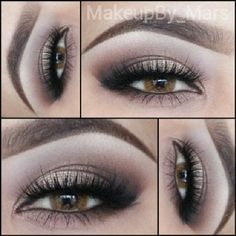 Neutrals with false lashes by makeupby_mars. #WinWayneGosstheCollection