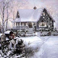 christmas graphics, pictures, images and christmasphotos. Winter Szenen, Winter Magic, Winter House, Hello Winter, Christmas Scenery, Christmas Art, Christmas Doodles, Christmas Night, Winter Pictures