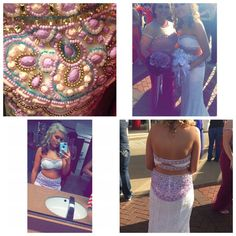 Rachel Allan 💖 Two piece prom dress. Beautiful beading 💖 top has been altered to a 4. And comes with flowers 💐 cheaper thru 🅿️🅿️ Rachel allan  Dresses