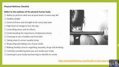 Physical Wellness Checklist
