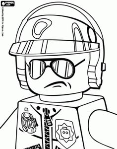 Bad Cop, the police officer of the Lego movie coloring page