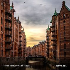 Rebel's headquarters and home #Hamburg really is a beautiful city! Visit our city and discover its many canals & cosy cafés  #KeepRebelling by triprebel