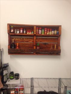 Shipping pallet spice rack google search home projects for How to make a spice rack out of pallets