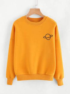 To find out about the Planet Print Sweatshirt at SHEIN, part of our latest Sweatshirts ready to shop online today! Cute Sweatshirts, Printed Sweatshirts, Hoodies, Sports Sweatshirts, Outfits For Teens, Cool Outfits, Fashion Outfits, Womens Fashion, Fashion Fashion