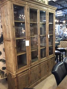 Steven chose the Linda Cabinet for its handsome presence, natural warm wood and detailed carving and hardware. Not surprising that he went for function without forsaking style. $2,695.00  | Cornerstone Home Interiors