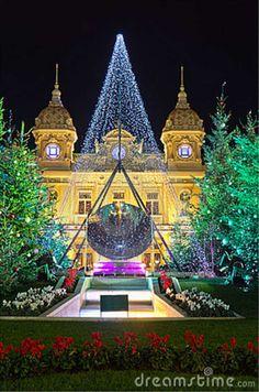Christmas decorations in Monaco, Montecarlo,France.