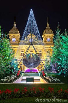 Christmas decorations in Monaco, Montecarlo,France.