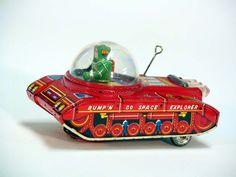 Vintage Japanese Tin Space Toys 1950′s – 1960′s