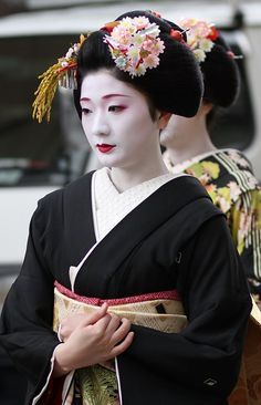 Maiko (apprentice geisha in western Japan, especially Kyoto) playing koto. Description from pinterest.com. I searched for this on bing.com/images