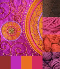Sari Palette - Love this color palette from stitchdiva.com. I'm going to have to use it for my next project.
