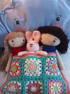 My crochet doll mijn gehaakte pop sleepover Annemarie Evers/ mani di Anne