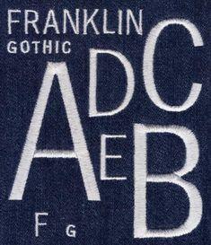 462 Franklin Gothic Satin Font