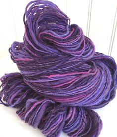 Handspun yarn hand-dyed crochet knit weaving by TerraBellaSpun