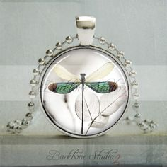 Dragonfly Pendant Dragonfly Jewelry Insect Bug by backbonestudio2, $12.95