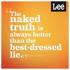 Naked > Best-Dressed. In this case at least. #quote #truth