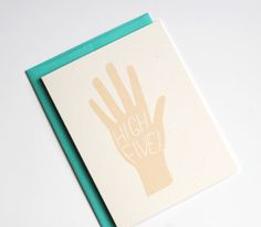 Congratulations Card - High Five Card - Congrats Card - Card for a Friend on Etsy, $4.00