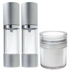 Airless Bottle Set - 1 oz (includes Airless Spray, Pump, & Jar)