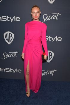 Kate Bosworth Wore Prabal Gurung To The InStyle Golden Globes After Party - - Kate Bosworth attended the Warner Bros. And InStyle Golden Globe After Party held at The Beverly Hilton Hotel on Sunday (January in California. Golden Globes After Party, Golden Globe Award, Kate Bosworth Style, Red Carpet Gowns, Prabal Gurung, Victoria Dress, Red Carpet Fashion, Party Fashion, Pink Dress
