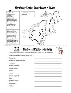 northeast region mini book activities printable worksheets teacherspayteacherscom