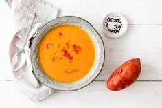 Süßkartoffel-Kokossuppe mit Chilitofu - eat this.org