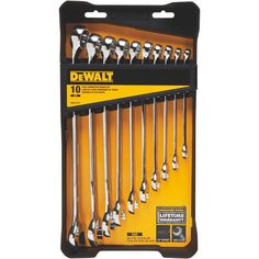Dewalt DWMT72167 10-Piece Combination SAE Wrench Set