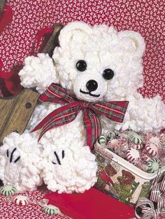 Curly Teddy Bear free crochet pattern of the day from free-crochet.com 8/5/13