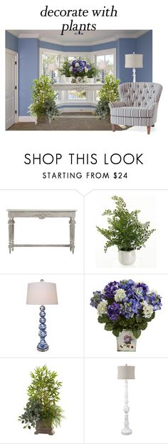 """""""Decorate with plants"""" by tammydevoll ❤ liked on Polyvore featuring interior, interiors, interior design, home, home decor, interior decorating, Home Decorators Collection, Universal Lighting and Decor, Nearly Natural and Surya"""