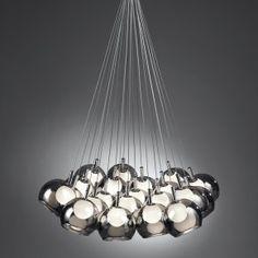 Lampadario Mascagni O1360   lampadario 'sfere' in vetro a 21 luci, dimensione: 72x150