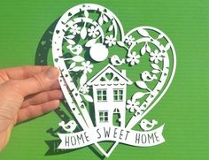 Home Sweet Home SVG / DXF cut files and PDF Printable for hand cutting
