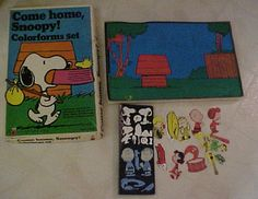 Vintage 1972 COME HOME SNOOPY! COLORFORMS PLAY SET Peanuts Charlie Brown