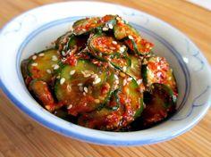 Korean style cucumber salad
