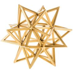 Small Gold Iron 3D Star