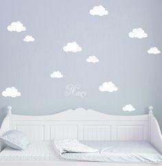 100% Rauhfaser tauglich   Kinderzimmerwandtattoo Wandtattoo Wolken Wolke Wölkchen mit Namen M1682  Wandtattoo Wandtattoo Wolken Wolke Wölkchen mit Wunschnamen   **Wandtattoo Wandaufkleber...