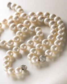 Two South Sea cultured pearl and diamond necklaces, Bulgari (est. $20,000-30,000 and $25,000-35,000)