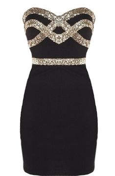 glammed up little black dress