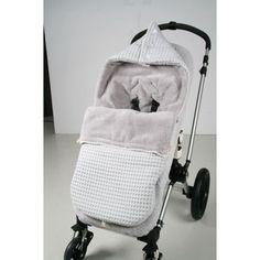 Jut en Juul Lifestyle for Kids : voetenzak wafel/teddy Oslo buggy - Silver Grey - Soft Grey
