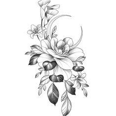 Mandala Tattoo Design, Tattoo Design Drawings, Flower Tattoo Designs, Flower Tattoos, Evil Mermaids, Beauty And The Beast Tattoo, Magnolia Tattoo, Aquarius Tattoo, Fine Line Tattoos