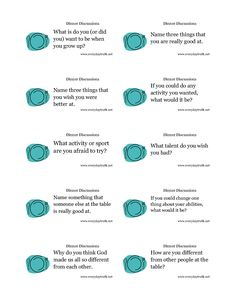 I love these monthly table topics from my FAVORITE blog!