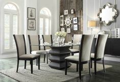 5 PC Homelegance Havre Collection Dining Room Table Set 5021-54BE