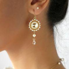 Crystal wedding earrings Swarovski drop earrings от LioraBJewelry