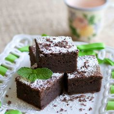 Mint mochi cake, another unique variation of mochi; a Japanese sweet consisting of sweet rice powder (mochiko). These still aren't very popular world wide, but are slowly gaining recognition as the Japanese culture begins to gain more recognition.
