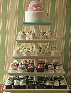 Cup cake wedding cake